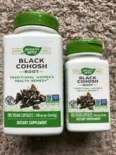 LOT Black Cohosh Root 180 Caps by Nature's Way and 100 caps Exp 2024