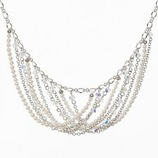 Crystal Pearl Statement Necklace New Touchstone Crystal by Swarovski Swept Away