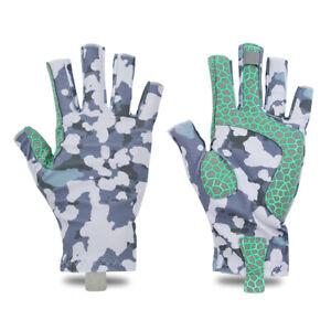 Savior Outdoor Fingerless Fishing Gloves Waterproof Gear Camping Mitten Size S