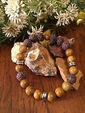 Essential Oil Bracelet Natural Jasper Stone Lava Rock Diffuser Unisex Jewelry