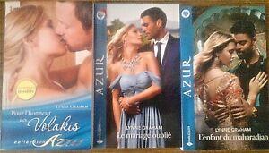 Lot 3 livres Harlequin Azur de Lynne Graham, très bon état
