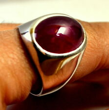 New Fashion 925 Sterling Silver Good Quality Natural Ruby Cabochon men's Ring