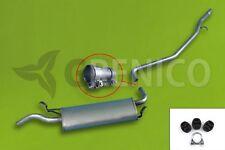 Endschalldämpfer Fiat Seicento 187 0.9 hayon 1998-2002 Kit de montage