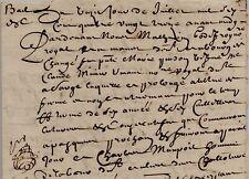 1693 Bail à ferme à Changé pour MAUPOIL de PINSON veuve MINIER notaire de Sargé