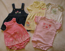 9 pcs 9 Mo Girl Baby Clothes Lot Carters Cherokee Baby Y411