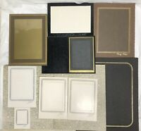 10 Vintage Retro Pressed Cardboard Portrait PICTURE FRAME Matted Lot