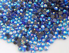750pcs DMC HOTFIX SAPPHIRE AB GLASS CRYSTAL Rhinestones SS16 (3.8-4mm) Iron on