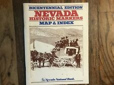 Nevada Historic Markers Map & Index Bicentennial Edition Book 200 Sites