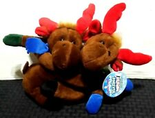 "2001 Floppy Friends ""Holiday Friends Forever"" Plush Stuffed Reindeer"