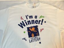 Men's I'm a Winner Texas Lotto T-Shirt Sz XL J19