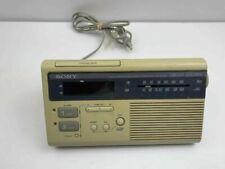Sony Dream Machine ICF-C180 AM/FM Radio Clock Dual Alarm White Square Retro Grey