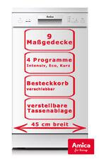 Amica 45cm Geschirrspüler unterbaufähig Spülmaschine Weiß GSP 14746-1 W