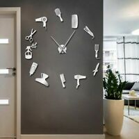 Salon Wall Clock Home Decoration Watch Hairdressing Tools Designed 3D Clocks New