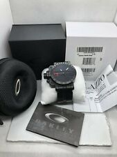 🇨🇦 Oakley Gearbox Stealth Black 10-062 Balck & Red Dial
