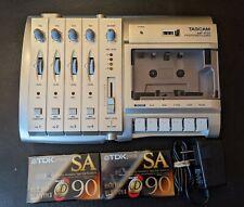 Tascam MF-P01 Portastudio 4 Track Recorder Power Supply Blank Cassette