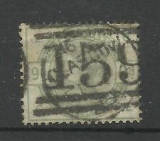 1883/4 Sg 195, 9d Green (GE) Good used.