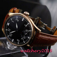 44mm Parnis 6498 Hand Winding Men Watch 12 hour Dial Stainless Steel Case Casual