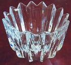 """Vintage Orrefors """"Fleur"""" Art Glass Bowl Vase Designer Jan Johansson  6.25*4.5"""""""