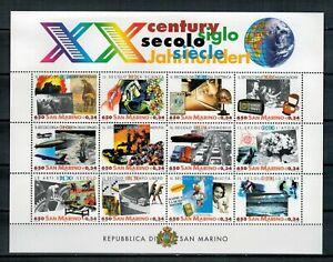 SAN MARINO - AL FACCIALE - 2000 XX SECOLO FOGLIETTO ** MNH