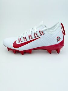 Nike Ohio State Buckeyes Size 7 Low Football Cleats Red White New BV0862-101