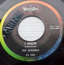 the SPANIELS bus fare home b/w I know DOOWOP 45 on VeeJay e6184