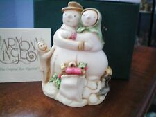 Harmony Kingdom Snowdonia Fields Snowman Couple Marble Resin Box Figurine Nib