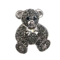 Fashion Rhinestone Cute Bear Betsey Johnson Charm Woman Brooch Pin Decor LJ