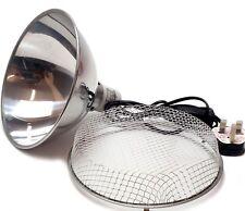 Clamp Lamp Reflector Dome Ceramic Holder Silver  75W 150W 200W Reptile Tortoise