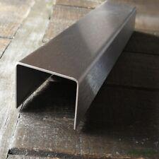 Edelstahl U-Profil 0,8mm stark K240 10x10x10 mm INNENMAß 1500 mm U-Winkel V2A