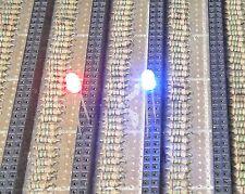 50 Blue / Red Flash 3mm Blink LEDs Free Resistors