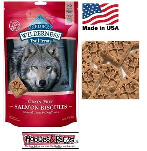 Natural Wilderness Blue Buffalo Dog SALMON Healthy Treats Grain Free MADE IN USA