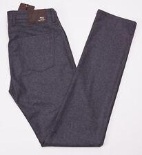 NWT $550 PT01 Slim Charcoal Gray Five Pocket Brushed Flannel Wool Pants 34 PT05