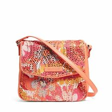 Vera Bradley Summer Sparkle Crossbody Small Bag Purse Pink Womens Girls 14782