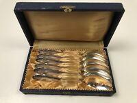 """Lot 6 German Silver HOMAG  90 Silverplate 5.25"""" Teaspoon Spoon Flatware Set HFL4"""