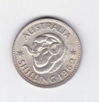 1962 Australia Silver One Shilling Coin D-484