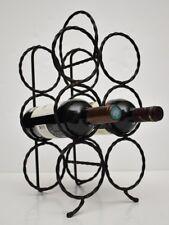 Handmade Wine Rack Wrought Iron / Metal Bottle Holder Display Stand 6 Bottles