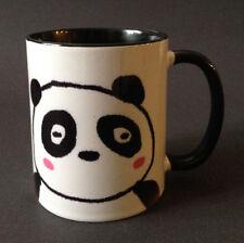"Japanese 3.75""H Porcelain Sushi Tea Mug Cup Kawaii Happy Panda, Made in Japan"