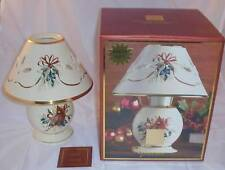New Lenox Votive Candle Lamp Christmas Holiday Winter Greetings Hostess Gift