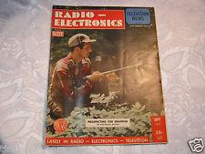Radio  Electronics Vacuum Tube Vintage Magazine Sept 1949