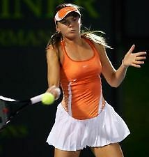 DANIELA HANTUCHOVA NIKE TENNIS DRESS SIZE XS RARE!  DRESS ORANGE WHITE WOW!