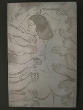 VINTAGE ETCHING PLATE STYLE OF CUBIST PABLO PICASSO FINE ART NUDE OCTO MASSAGE