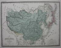 CHINA, CHINESE EMPIRE, JAPAN, KOREA, original antique map, Malte-Brun, c.1882