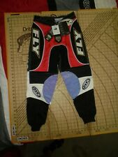 YOUTH SIZE 28 FLY RACING BLACK/RED/WHITE CYCLE PANTS -NWT