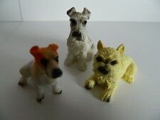 (G6.16) DOLLS HOUSE SET OF THREE ASSORTED RESIN DOGS