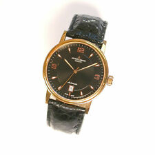 NEW $1495 GENTS 38mm BLACK DIAL JACQUES LEMANS SWISS AUTOMATIC WATCH - G138 RG