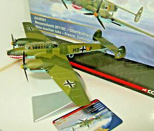 Corgi Aviation AA38501 O-Lt Hans Joachim Jabs Messerschmitt Bf110C 1:72 Scale