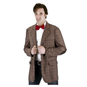 Doctor Who 11th Doctor Matt Smith Plaid Cosplay Costume Jacket Coat Blazer Cloak
