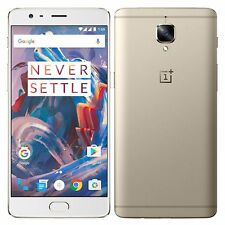 "BNIB 5.5"" Oneplus 3T 64GB A3003 Dual-SIM Soft Gold Factory Unlocked 4G Simfree"