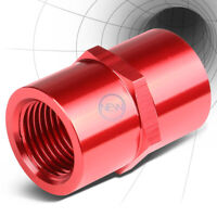 """FEMALE 3/8""""-18 NPT PIPE THREAD COUPLER RED ANODIZE ALUMINUM FITTING ADAPTER"""