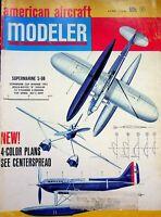 Vtg American Aircraft Modeler Magazine June 1968 Super Marine S-6B  m177